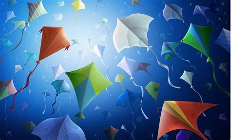 colorful kites wallpaper happy makar sankranti 2013 facebook cover photos a world