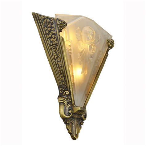 Large Wall Sconces Pair Of Large Wall Sconces Lighting With Antique Shades Ant 400 For Sale Antiques