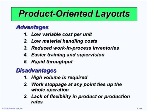 product layout merits and demerits heizer 09