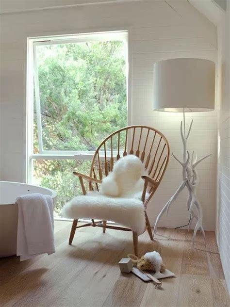 ikea tejn white ivory faux sheepskin rug modern throw chair cover