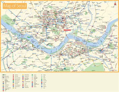 seoul map tourist attractions seoul tourist attractions map