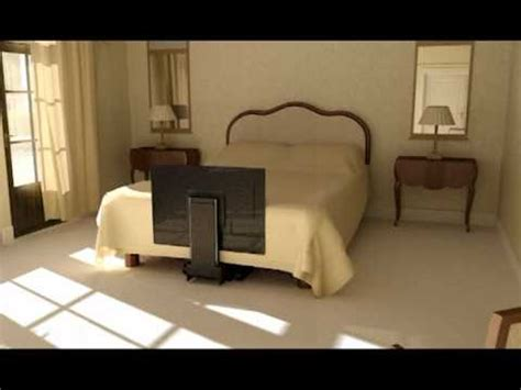 under bed tv mount under bed tv lift future automation youtube