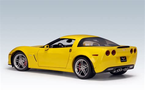 corvette c6 yellow autoart 2005 chevrolet corvette c6 z06 yellow 71232