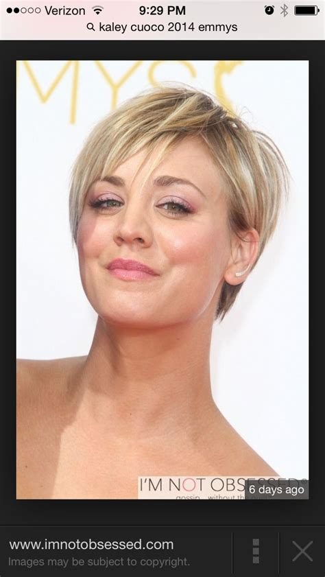 kaley cuoco new short hairdo kaley cuoco short hair hair styles pinterest