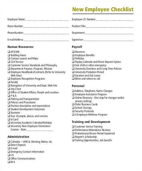 8 Onboarding Checklist Sles And Templates Pdf Word Excel Sle Templates Employee Onboarding Template