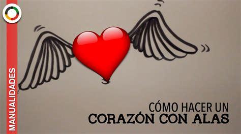 imagenes de un corazones c 243 mo dibujar un coraz 243 n con alas youtube