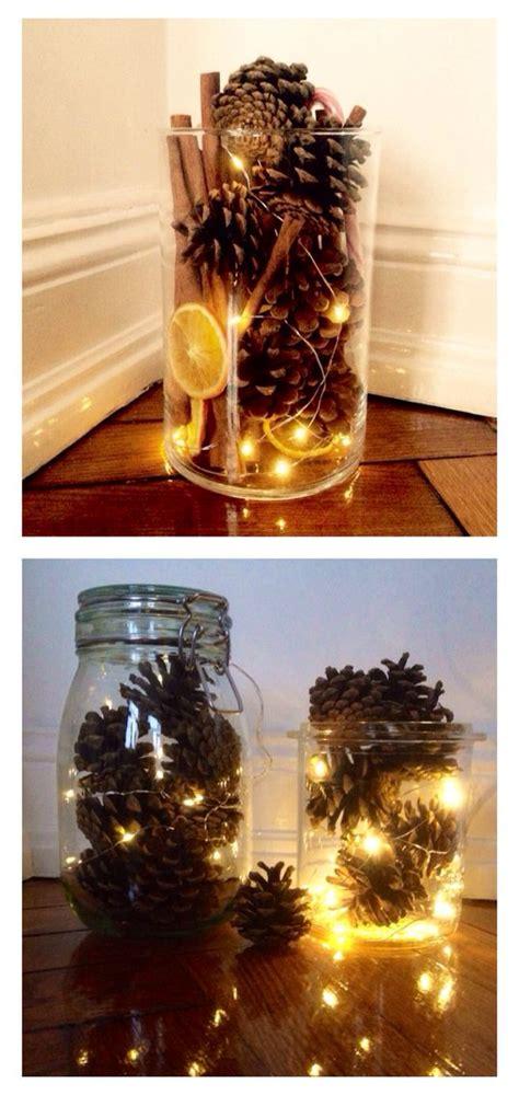 weckglas deko herbst verschiedene nat 252 rliche elemente in ein gro 223 es glas geben