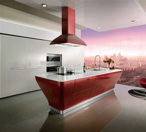 red lacquer kitchen cabinets oppein red lacquer kitchen cabinet with island op12 l062