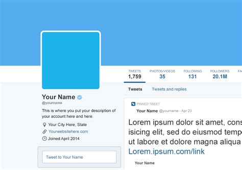 twitter account layout free april 2014 twitter profile page psd mockup template