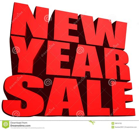 new year song sales new year sale stock photography image 36819702