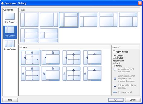 adf layout exles getting started with adf faces and jdeveloper