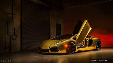 Golden Lamborghini Gold Lamborghini Aventador Ki Studios