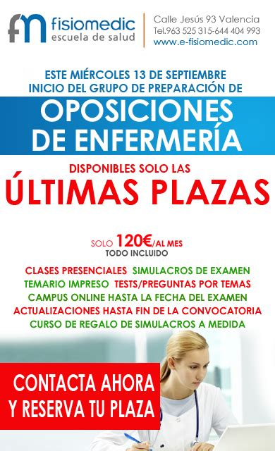 convocatoria oposiciones comunidad valenciana para 2016 convocatoria de nuevas plazas de enfermer 237 a en la