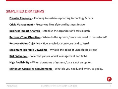 recovery point objective template disaster recovery planning
