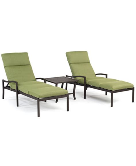 aluminum outdoor chaise lounge madison outdoor aluminum 3 pc chaise set 2 chaise