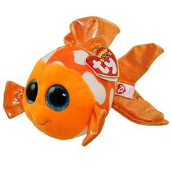 ty beanie boos sami orange amp white fish glitter eyes regular size 6 bbtoystore