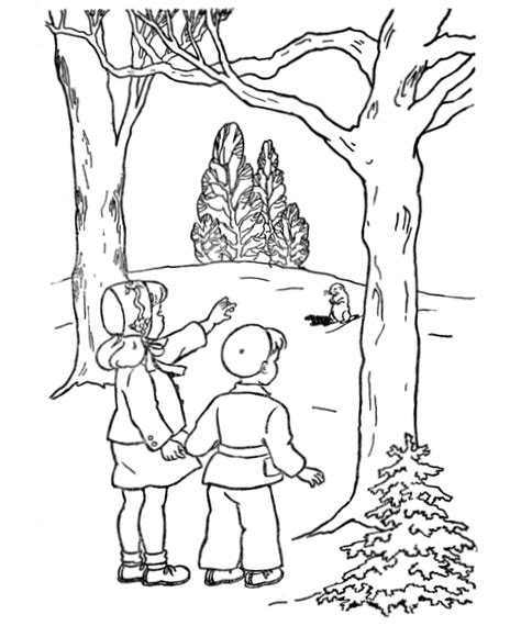 preschool coloring pages for groundhog day groundhog day coloring pages girl and boy see a