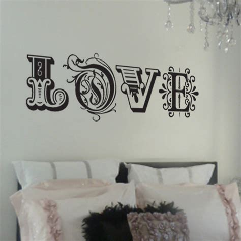 love wall decor bedroom love wall sticker by nutmeg notonthehighstreet com