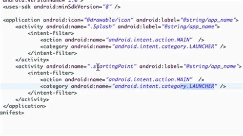 tutorial android manifest android application development tutorial 13
