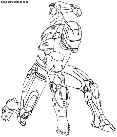imagenes abstractas sin color dibujos de ironman para colorear
