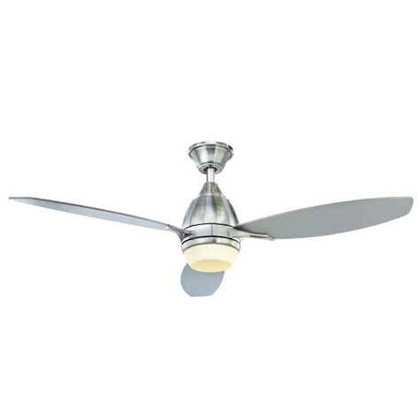 hunter duncan 52 ceiling fan hunter duncan 52 in indoor brushed nickel ceiling fan
