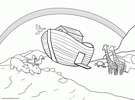 Noah Ark Coloring Page Coloring Home Coloring Book Pages L