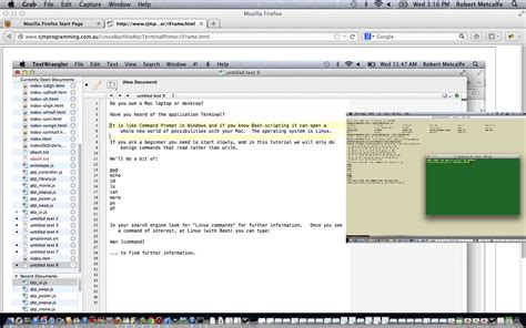 tutorial terminal linux pdf linux bash mac terminal tutorial robert metcalfe blog