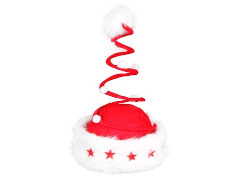 christamas hat santa claus hat spiral with flashing stars