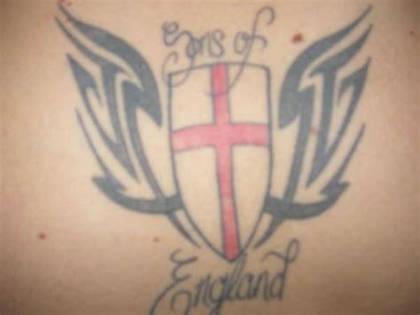 cross tattoo england england tattoo