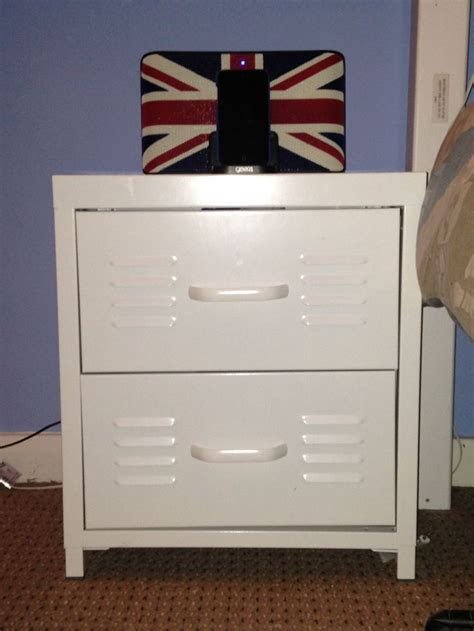 Locker Style Nightstand by White Locker Bedside Cabinet From Next Cottage Style