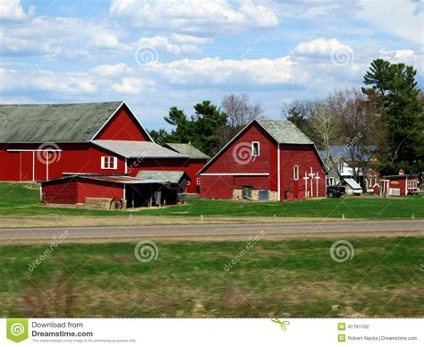 Country Shed Wi by Farm Along A Road Stock Photo Image 41761152