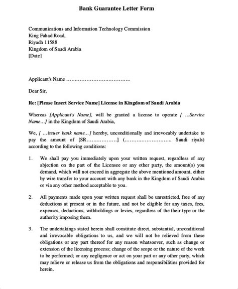 request letter of bank guarantee 51 guarantee letter sles pdf sle templates