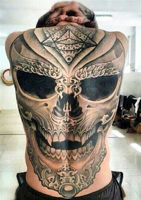 skull back tattoos 2085 best awesome realistic 3d tattoos
