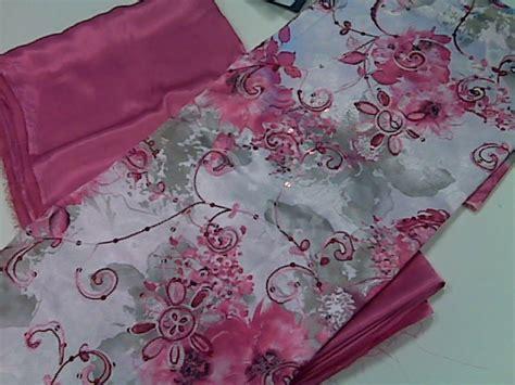 Kain Ela Fuschia Pink | kain ela sulam kopia pencinta merah red lover red diva
