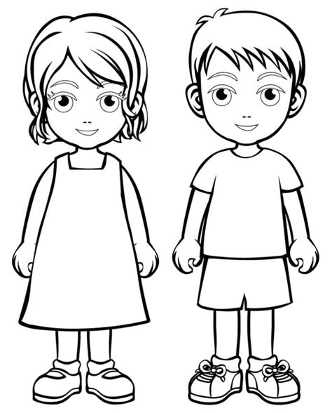 Coloring Pages For Boy And Girl | coloring page boy and girl coloring home