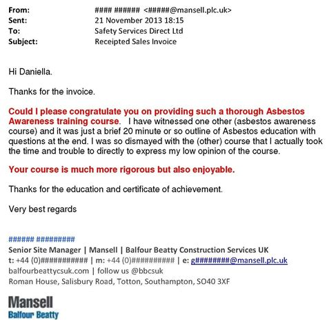 28 asbestos awareness certificate template iatp