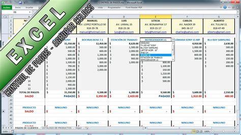 formato para control de pagos excel agrupar celdas control de pagos asesor juan