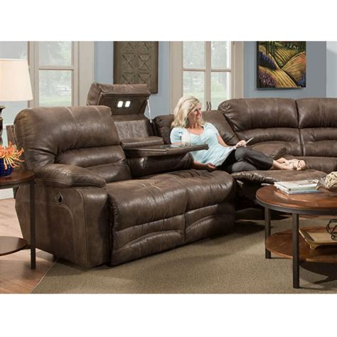 faux leather reclining sofa legacy faux leather reclining power sofa w dropdown and