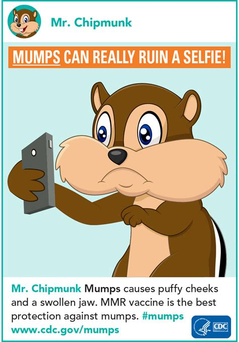 Mumps | Mumps Can Really Ruin a Selfie Infographic | CDC Mumps Cdc