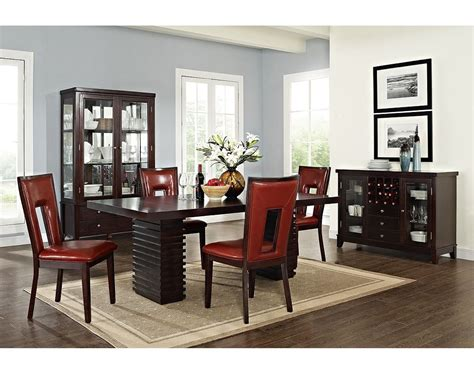 cheap contemporary dining room sets modern inspiring cheap dining room sets dominated brown