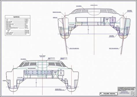 catamaran study plans lidgard yacht design 43 ft catamaran multihull study plan