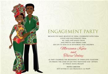 liberian traditional wedding invitation card