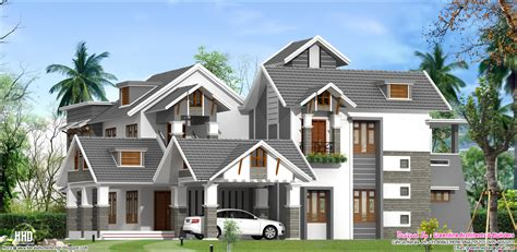 a unique luxury villa elevation design kerala home unique