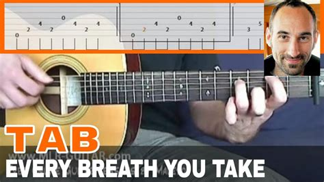 fingerstyle tutorial every breath you take guitar cover tab every breath you take by mlr guitar