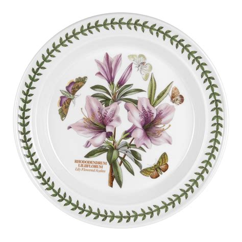 Botanic Gardens Portmeirion Portmeirion Botanic Garden 10 Inch Dinner Plate Azalea Portmeirion Uk