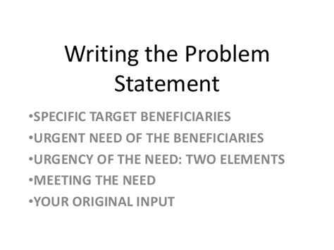 How To Make A Problem Statement In A Research Paper - research 0 how to write the problem statement