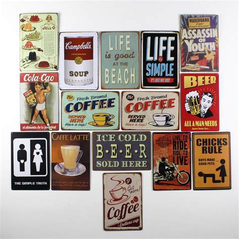 Garage Signs And Decor by Metal Vintage Tin Signs Plaque Coffee Pub Wall Tavern
