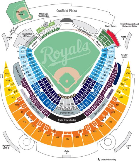 kauffman stadium map 2012 royals ticket pricing kansas city royals