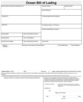 download bill of lading forms