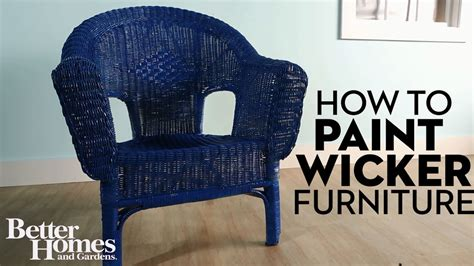 how to paint a how to paint wicker furniture youtube